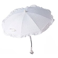 Clair de Lune Broderie Anglaise Pushchair Parasol, White