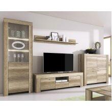 SKY Grey Oak Living Room Furniture Set TV FULL SET