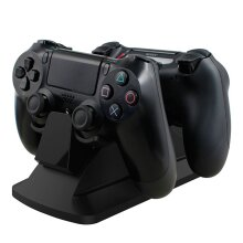 Dual Charging Dock Charge Station for Playstation 4 PS4 Controllers (AC Mains Powered UK Wall Plug)