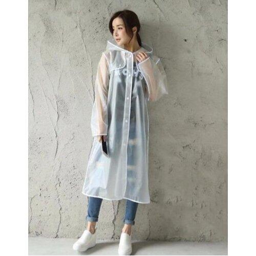 Women,s Transparent Eva Plastic Raincoat