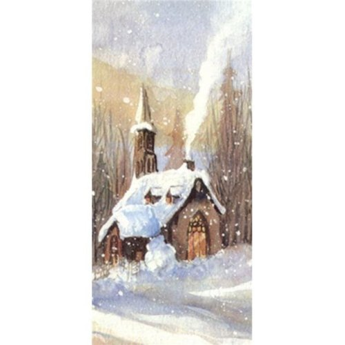 Country Church Poster Print by Harriet Nordby - 12 x 24 in.