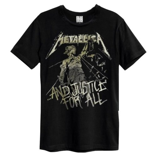Metallica 'And Justice For All' (Black) T-Shirt - Amplified Clothing