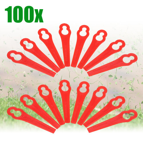 (Red, 7*12mm) 100pcs Plastic Grass Trimmer, Plastic Cutter