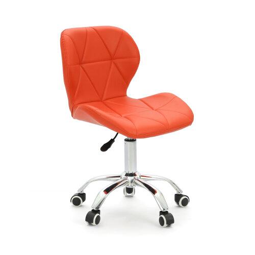 (Orange) Adjustable Computer Desk Lift Swivel  Office Chair