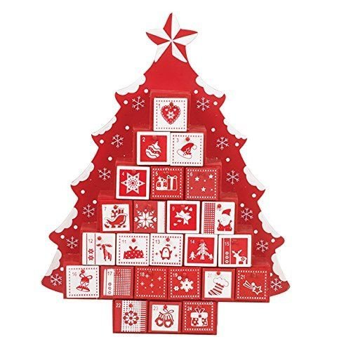 Wooden Tree-Shaped Advent Calendar | Fill-Your-Own Advent Calendar