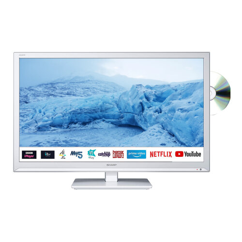 Sharp 24 Inch HD Ready LED Smart TV with Built-In DVD Player and Freeview Play