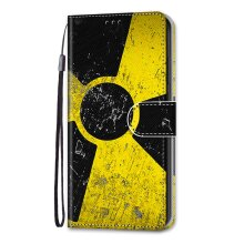 Samsung Galaxy X Cover 5 Case Pattern Cover Folio with kickstand Radiation