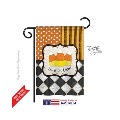 Breeze Decor 62056 Halloween Trick or Treat 2-Sided Impression Garden Flag - 13 x 18.5 in.