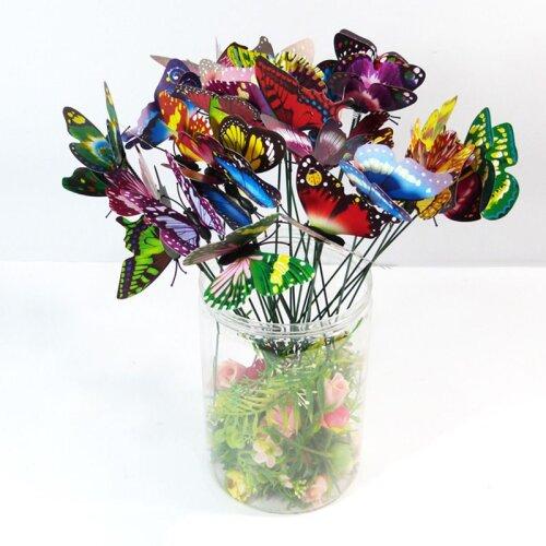 50Pcs 3D Colorful Butterfly Garden Flowerpot Decor