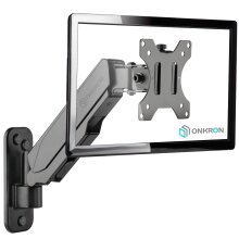 """ONKRON TV Monitor Wall Mount for 13""""-32Inch with Gas Spring G120 Black"""