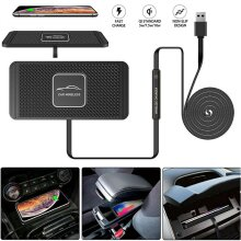 QI Wireless Car Phone Fast Charger Non-Slip Charging Pad Mat For iPhone Samsung