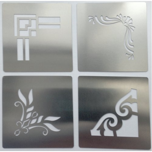Type 2 Ornate Corners Stainless Steel Crafting Stencils 4cm