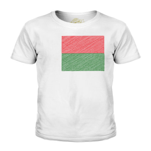 Candymix - Madagascar Scribble Flag - Unisex Kid's T-Shirt