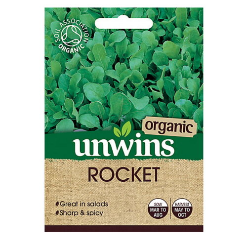 Unwins Grow Your Own Sharp & Spicy Organic Rocket Herb Seeds