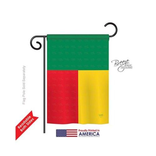 Breeze Decor 58304 Benin 2-Sided Impression Garden Flag - 13 x 18.5 in.
