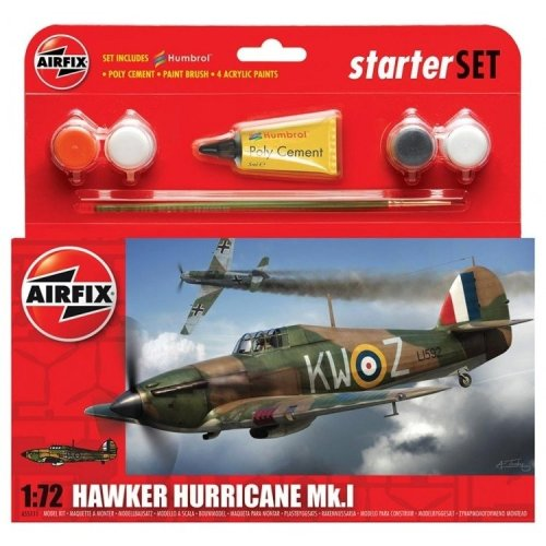 Air55111 - Airfix Small Starter Set - 1:72 - Hawker Hurricane Mki