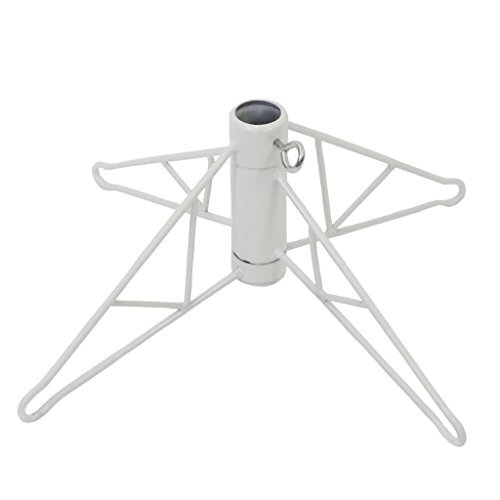 Vickerman White Metal Christmas Tree Stand For 4' - 4.5' Artificial Trees