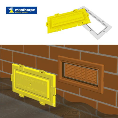Airbrick Flood Water Defence Protection Cover with White Frame