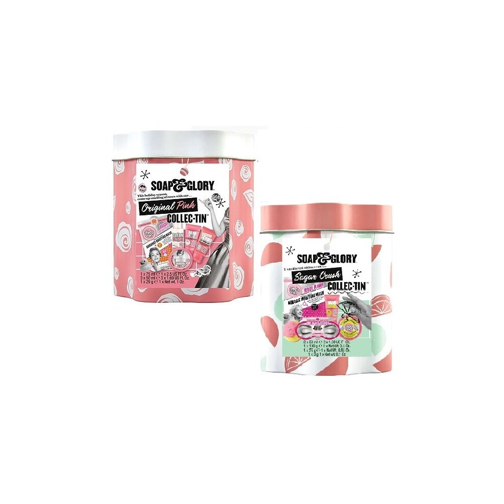 Soap & Glory Tin Collection Gift Set The Original Pink & Sugar Crush Tin Collection Gift Set
