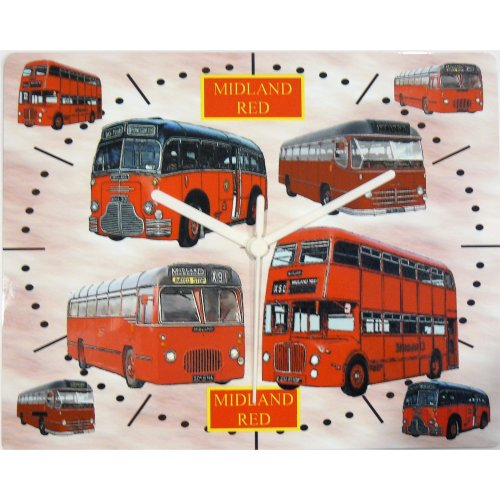 midland red bus wall clock bus coach d9