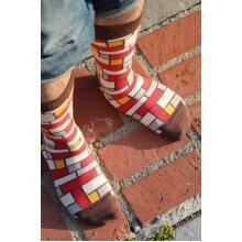 Stylish Rectangle Patterned Office Sock