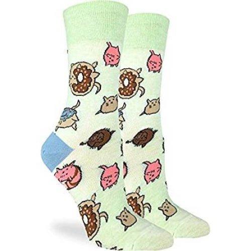 Socks - Good Luck Sock - Women's Crew Socks - Donut Cats (5-9) 3207