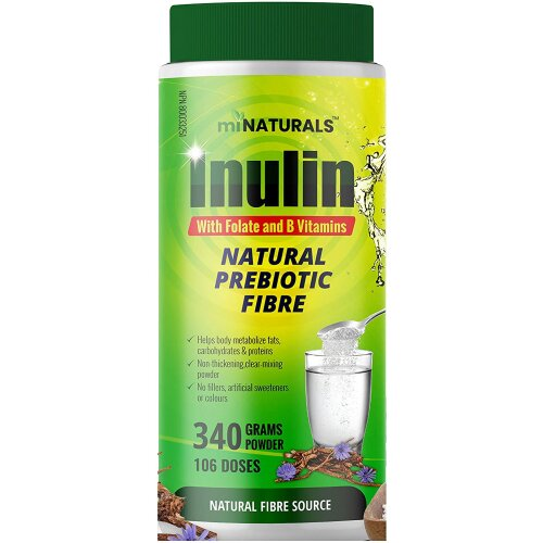 Pure Inulin Fiber Powder with Folate and B Vitamins - 340g - 106 Doses