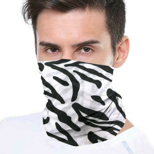(Zebra) Bandana Face Covering Mask Biker Tube Snood Scarf Neck Cover