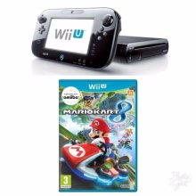 NINTENDO WII U BLACK PREMIUM CONSOLE WITH MARIO KART 8 GAME UN-BOXED - Used