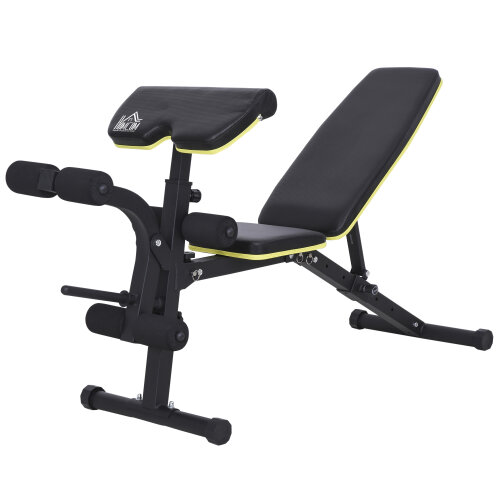 HOMCOM Multi-Functional Sit-Up Dumbbell Bench Adjustable Seat and Back Angle