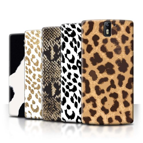 Fashion Animal Print Pattern OnePlus One Phone Case Transparent Clear Ultra Slim Thin Hard Back Cover for OnePlus One