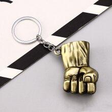 Marvel/DC Metal Keyring - Hulk Fist Gold