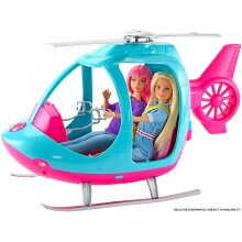 Barbie Helicopter Pink Blue Spinning Rotor Multicolored Imaginations Take Flight