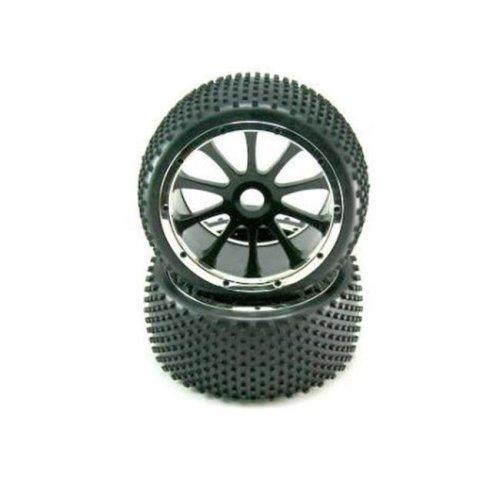 Redcat Racing 505313BK 7.1 x 4.5 in. Mounted Tire Splined Wheel Hubs - Pack of 2