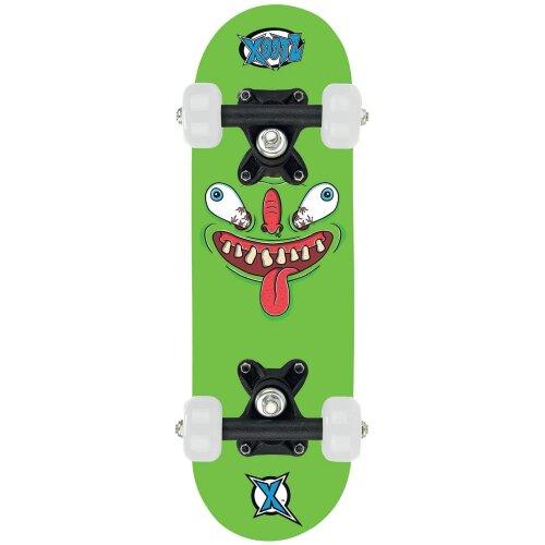 Xootz Childs Mini Skateboard - 17 Inch (Green Monster)