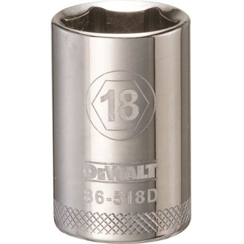 Stanley Tools 227901 18mm 6 Point Socket - 0.5 in. Drive