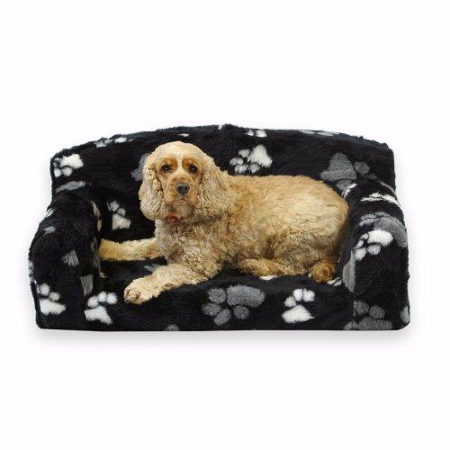 Luxurious Faux Fur Paws Dog Bed Pet Sofa