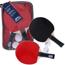 5pc Table Tennis Ping Pong Set Paddle Zip Bag Carry Case