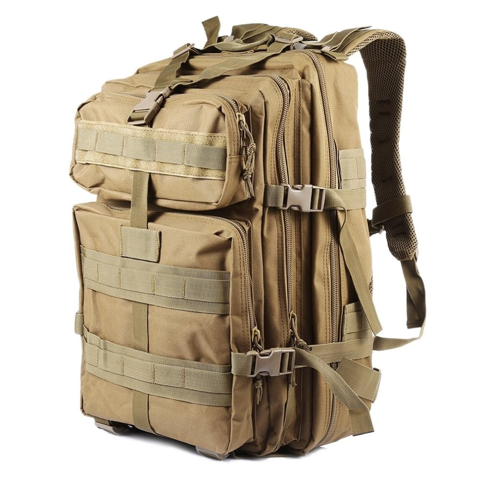 Nacatin Military Backpack, Hiking Backpack Rucksack Mens 45L Large Capacity  Tactical Backpack Molle Army Backpack for Outdoor Hiking Camping... on OnBuy