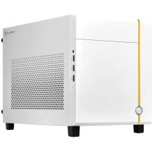 SilverStone Sugo Mini-ITX Compact Computer Cube White Case - SST-SG14W