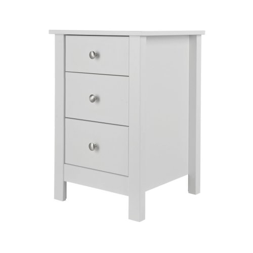 Bedside Table 3 Drawer Chest Cabinet Storage End Side Night Stand Bedroom White