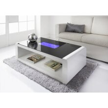 Stunning, Unique LED Infinity Coffee sleek curved edges Table Brightens Up Your Home.