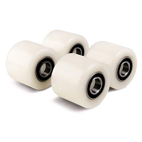 Set of 4 x Pallet Truck Rollers (4-pack kit, Diameter 70mm Width 60mm) Nylon Load Roller/Wheel with Ball Bearings 20mm bore, size 70x60x20mm 450kg