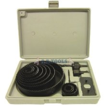 Hole Saw Cutter Kit With Storage Case 16pc - 16 Set Metal Wood 19127mm Piece -  hole saw kit 16 cutter set metal wood 16pc 19127mm piece circle round