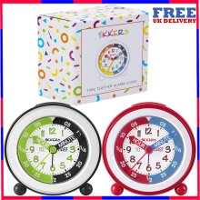 Tikkers Time Teacher Children Kids Alarm Table Clock Easy to Read Colourful