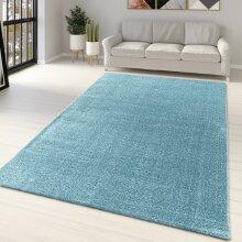 Teal Rug Carpet Blue Monochrome Plain Bedroom Living Room Area Mat Large Small