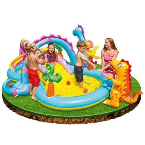 Intex 57135NP Kids' Dinoland Play Centre | Dinosaur Paddling Pool