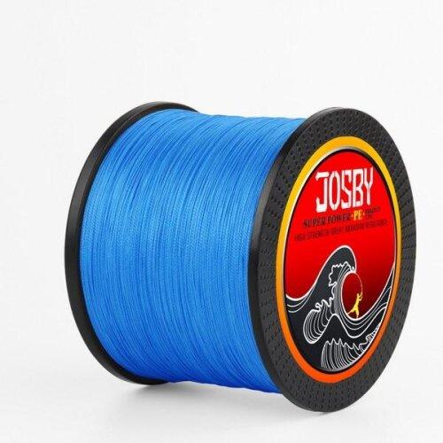 (BLUE, 100M-18LB-8Braid-1.0) 4 Braid Fishing Line