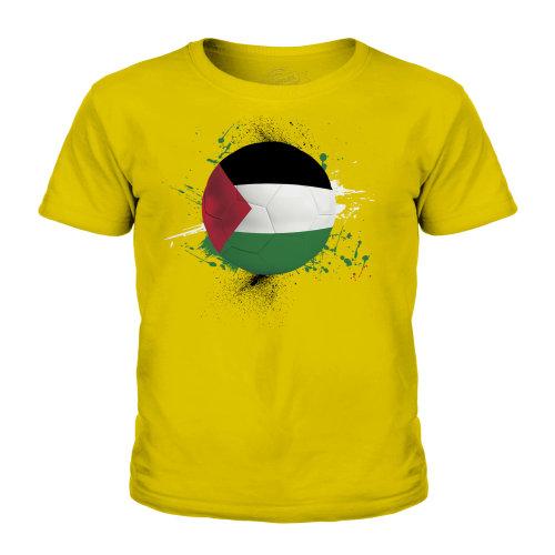 (Gold, 9-10 Years) Candymix - Palestine Football - Unisex Kid's T-Shirt