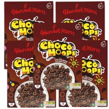 Harvest Morn Choco Hoops Cereal 375g - Pack of 5 (5 x 375g)